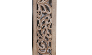 Artesia Home Willow Carved Wood Floor Mirror