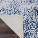 Picture of Damask DAS06 Ivory & Navy Area Rugs