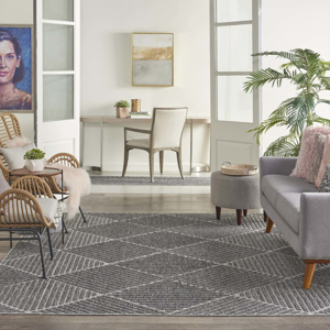 Picture of Cozumel CZM05 Dark Grey Indoor Outdoor Area Rugs