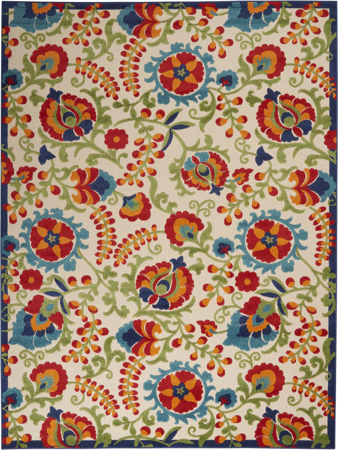 Picture of Aloha ALH17 Multicolor Indoor Outdoor Area Rugs