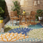 Picture of Aloha ALH05 Multicolor Indoor Outdoor Area Rugs