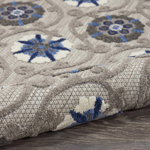 Picture of Aloha ALH19 Grey & Blue Indoor Outdoor Area Rugs