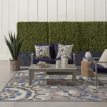 Picture of Aloha ALH20 Grey Multicolor Indoor Outdoor Area Rugs
