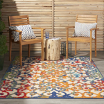 Picture of Aloha ALH21 Multicolor Indoor Outdoor Area Rugs