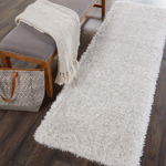 Picture of Luxe Shag LXS01 Light Grey Area Rugs