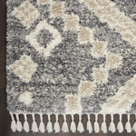 Picture of Oslo Shag OSL02 Grey & Ivory Area Rugs