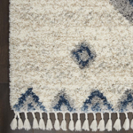 Picture of Oslo Shag OSL03 Ivory & Blue Area Rugs