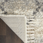 Picture of Oslo Shag OSL01 Ivory & Grey Area Rugs