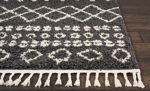 Picture of Moroccan Shag MRS02 Charcoal Area Rugs