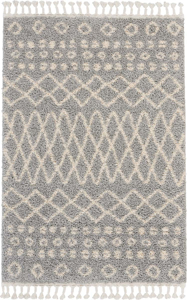 Picture of Moroccan Shag MRS02 Silver Area Rugs