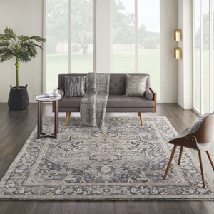 Picture of Kathy Ireland Home Moroccan Celebration KI381 Navy Area Rugs