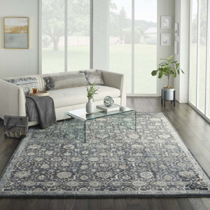 Picture of Kathy Ireland Home Moroccan Celebration KI385 Navy Area Rugs