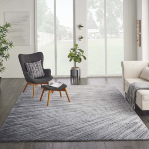 Picture of Kathy Ireland Home Moroccan Celebration KI389 Blue & Grey Rugs