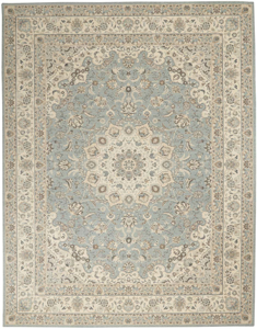 Picture of Living Treasures LI15 Aqua & Ivory Area Rugs