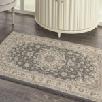 Picture of Living Treasures LI15 Grey & Ivory Area Rugs