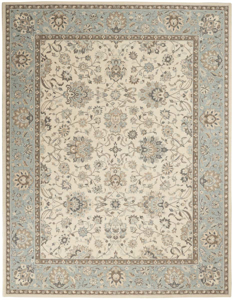 Picture of Living Treasures LI16 Ivory & Aqua Area Rugs
