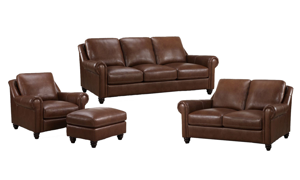 Bolero Leather 4-Piece Living Set