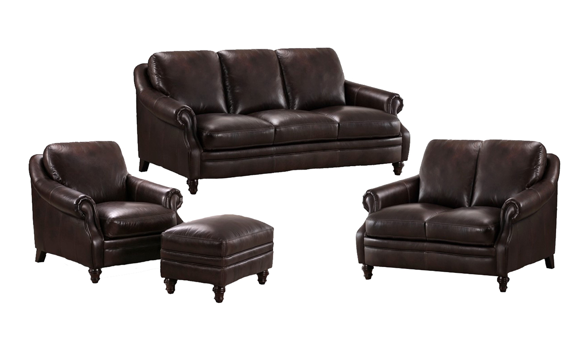 St. James 4-Piece Leather Sofa Set