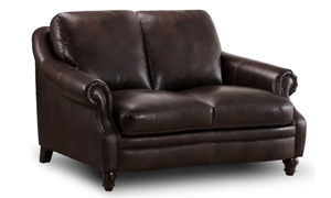St. James Leather Loveseat