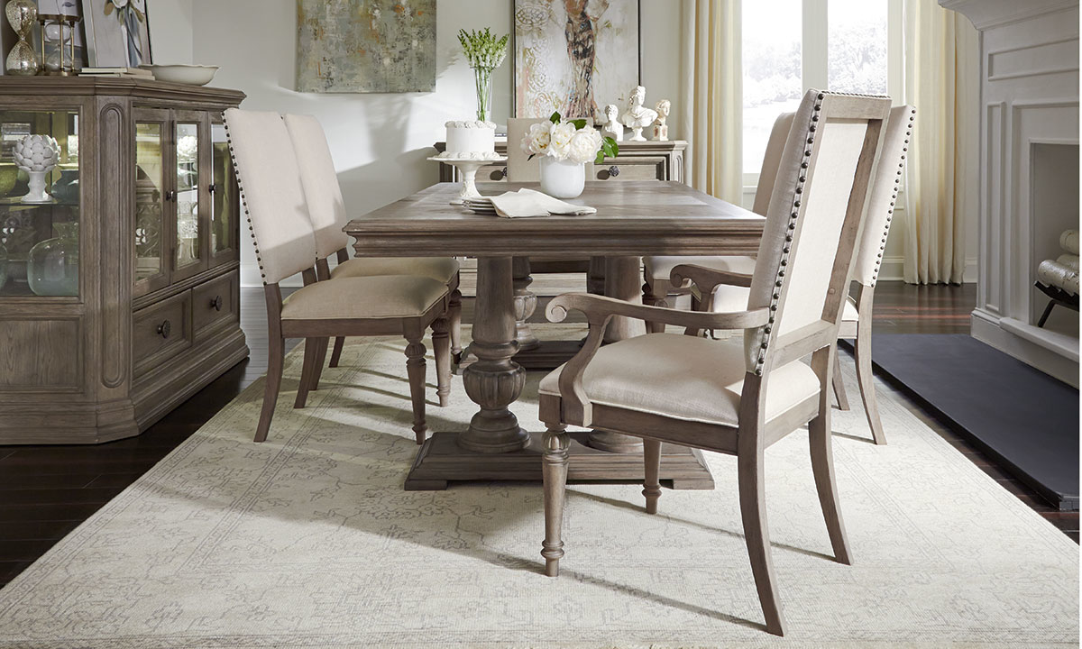 Legacy Classic Manor House 8 Piece Dining Set With Armchairs The Dump Luxe Furniture Outlet