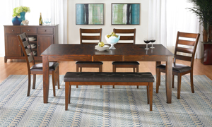 Kona Raisin Solid Mango Wood 5-Piece Dining Set