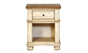 Belmont Antique Linen 1-Drawer Nightstand