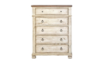 Belmont Antique Linen 5-Drawer Chest