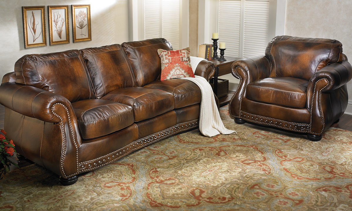 Rocky Mountain Leather Cowboy Brown Armchair
