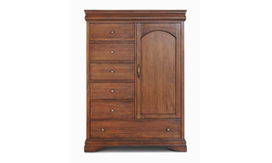 Louis Philippe French Classic Mahogany Door Cabinet
