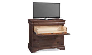 Louis Philippe French Classic Mahogany Media Chest