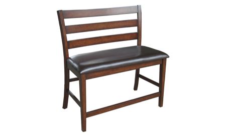 Kona Raisin Solid Mango Wood Counter Height Upholstered Bench