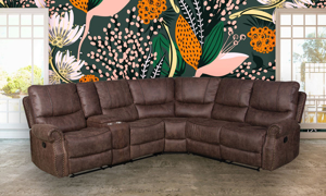 Axel Brown Triple Reclining Sectional