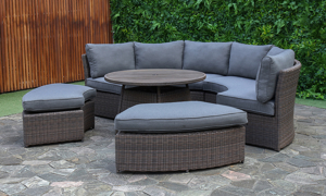 Creative Living Baltic Grey Outdoor Banquette Set