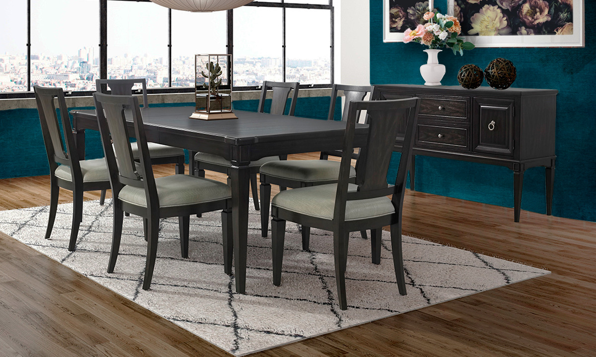 Valley View Walnut 5-Piece Dining Set