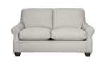 62-Inch Loveseat in a flax colored fabric.
