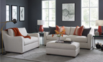 American made Danfield Collection from Carolina Custom comes available in a sofa, chair and ottoman.