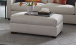 """46"""" wide ottoman handmade in the USA out or recycled materials."""