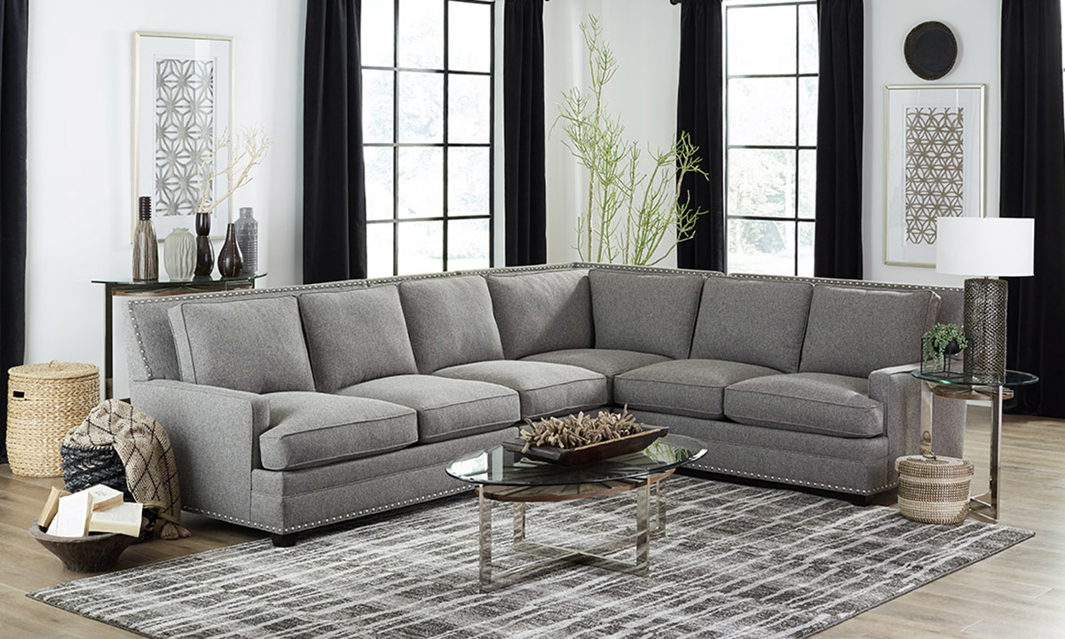 Picture of Carolina Custom Noland 4-Piece Sectional Charcoal