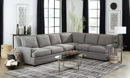 Carolina Custom Noland 4-Piece Sectional Charcoal
