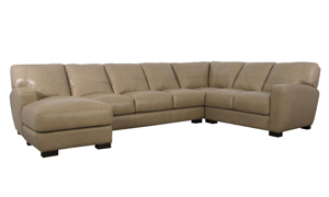 Pearl Italian Leather 3-Piece Chaise Sectional