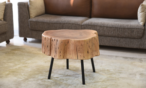 Bruno Live Edge Acacia Wood Small Cocktail Table
