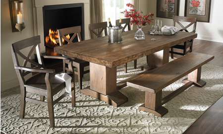 Cape Town Acacia Wood 5-Piece Dining Set