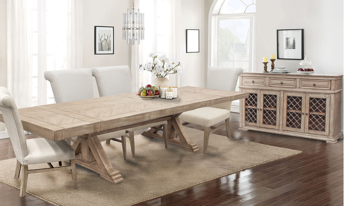 Urban Roads Danielle 7 Piece Dining Set The Dump Luxe Furniture Outlet