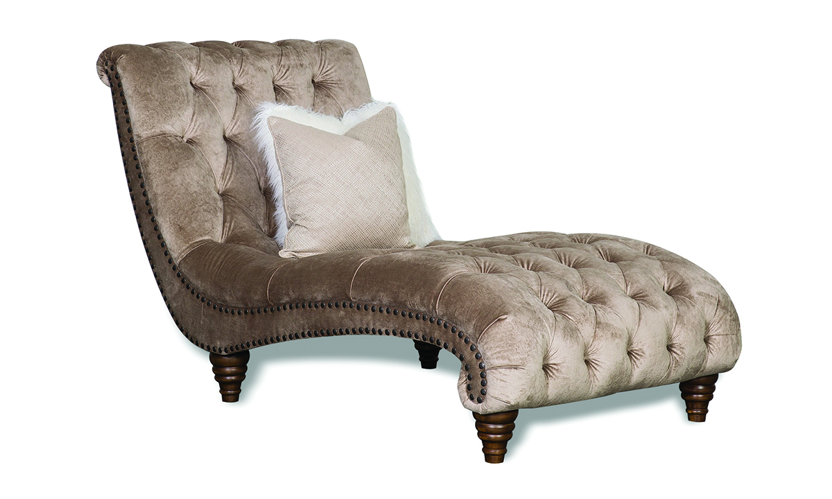 Aria Verona Champagne Velvet Chaise Lounge The Dump Luxe Furniture Outlet