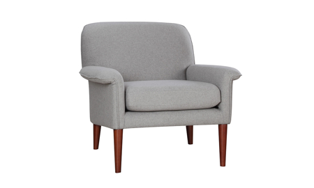 Tzu Grey Key-Arm Accent Chair