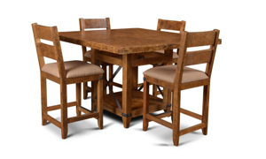 Horizon Home San Miguel 5-Piece Counter Height Solid Pine Dining Set