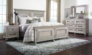 East Hampton Grey Panel Bedroom Sets