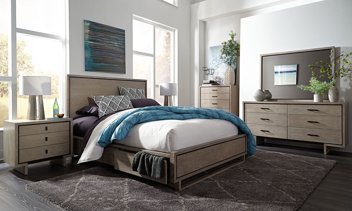Palliser Podium 6-Piece Storage Bedroom Sets