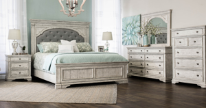 Highland Park White Upholstered Bedroom Sets