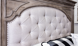 Highland Park Driftwood Upholstered Beds